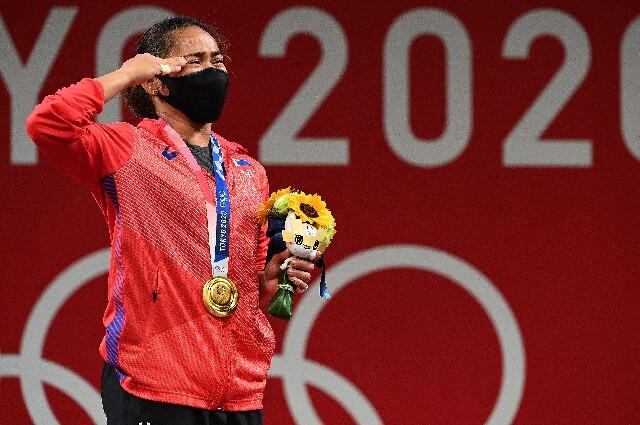 Hidilyn Díaz, en los Juegos Olímpicos