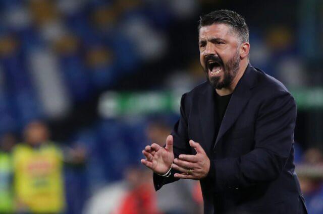 336927_Gennaro Gattuso, entrenador del Nápoles.
