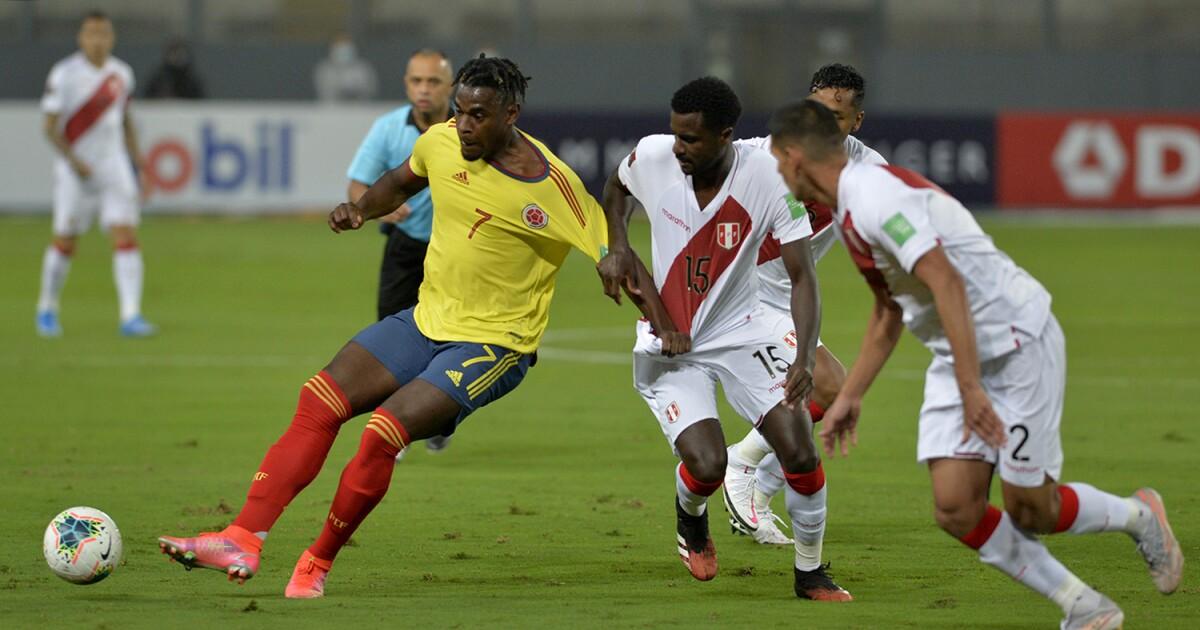 Perú 0-3 Colombia EN VIVO: la 'tricolor' anda sobre ruedas y ya golea en territorio 'inca'
