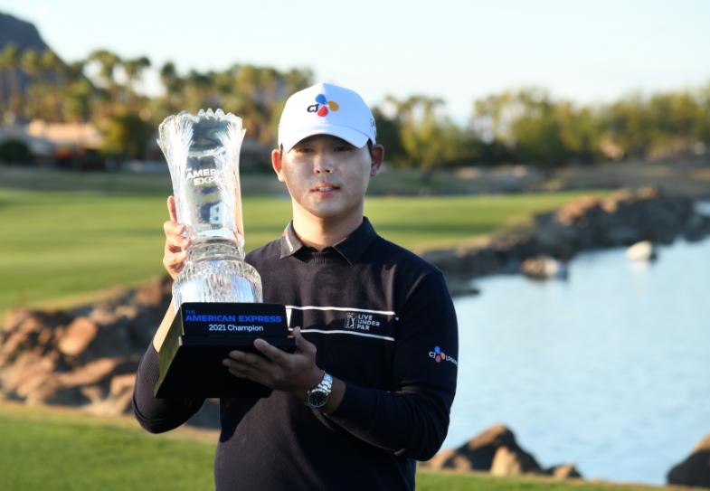Kim Si-woo, campeón del American Express de golf.