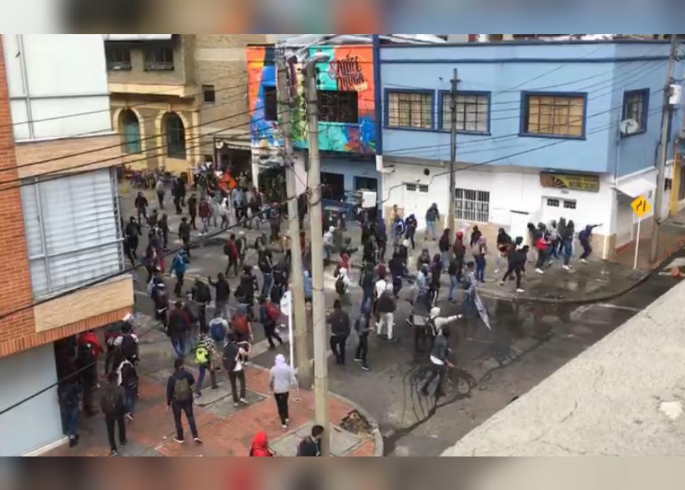 344484_Protestas de estudiantes en Bogotá / Foto: Policía Metropolitana de Bogotá