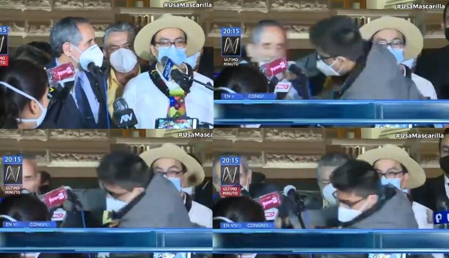 Congresista Burga siendo agredido / Foto captura de video