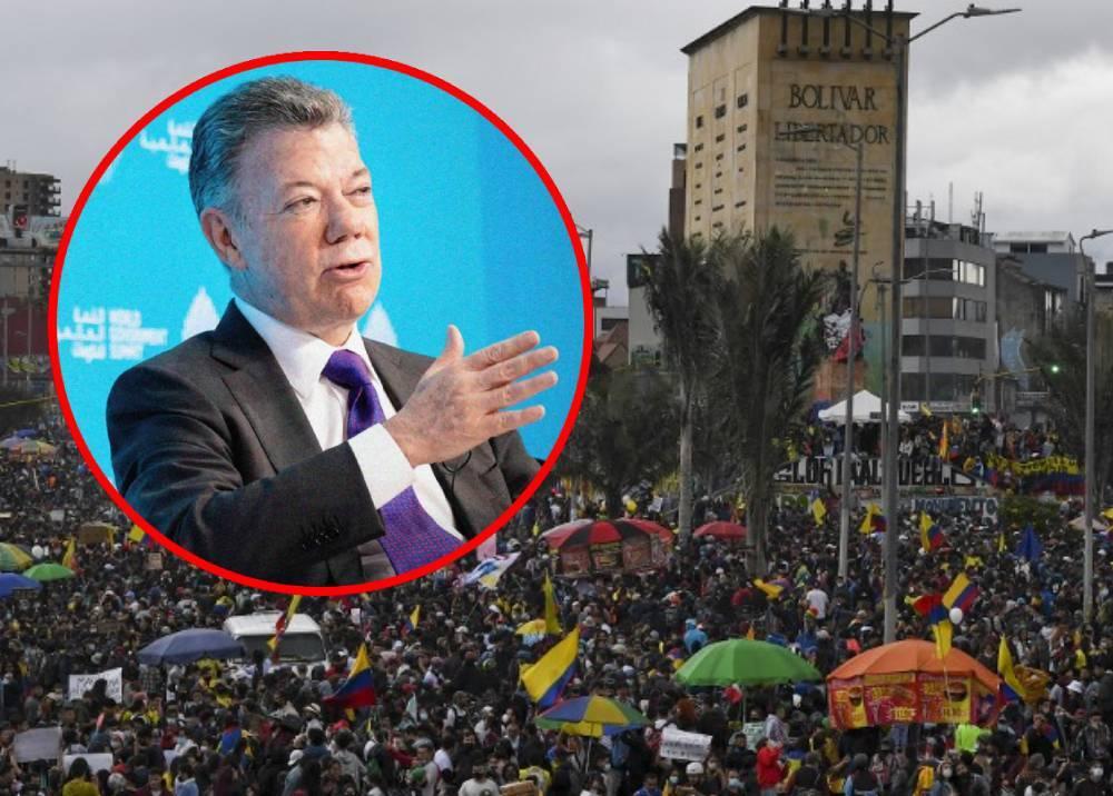 Juan Manuel Santos - protestas del paro nacional