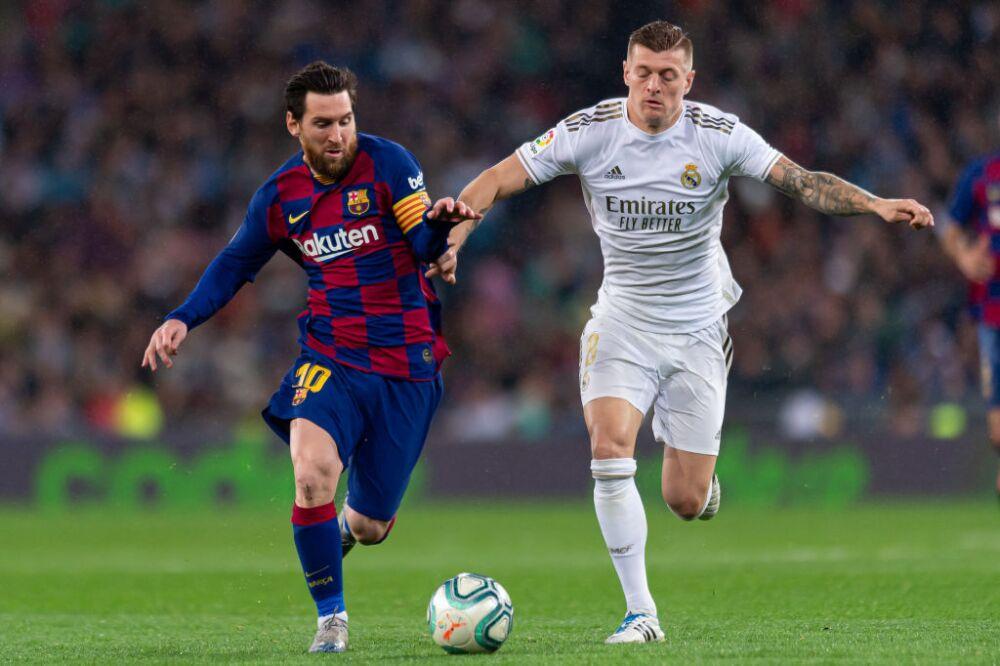 Toni Kroos y Lionel Messi, Real Madrid vs. Barcelona