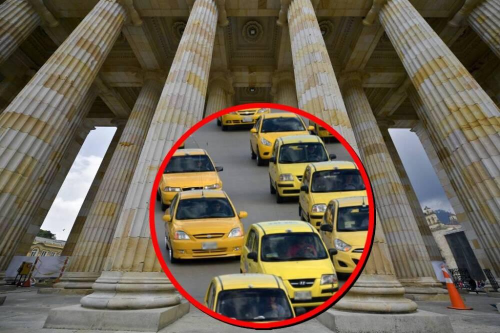 Taxistas organizan protesta contra el Congreso