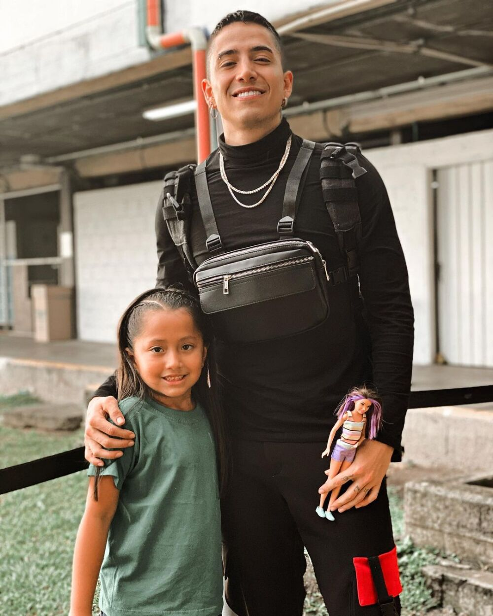 Andy Rivera  e hija