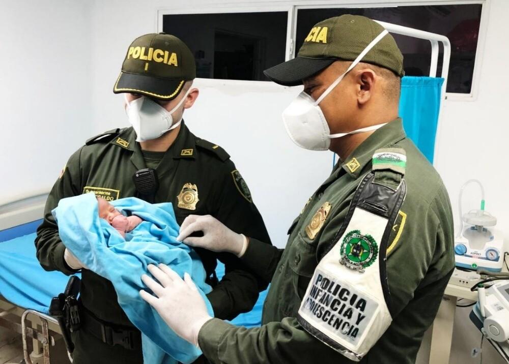 366522_Encuentran recién nacido en Barranquilla / Foto: Policía