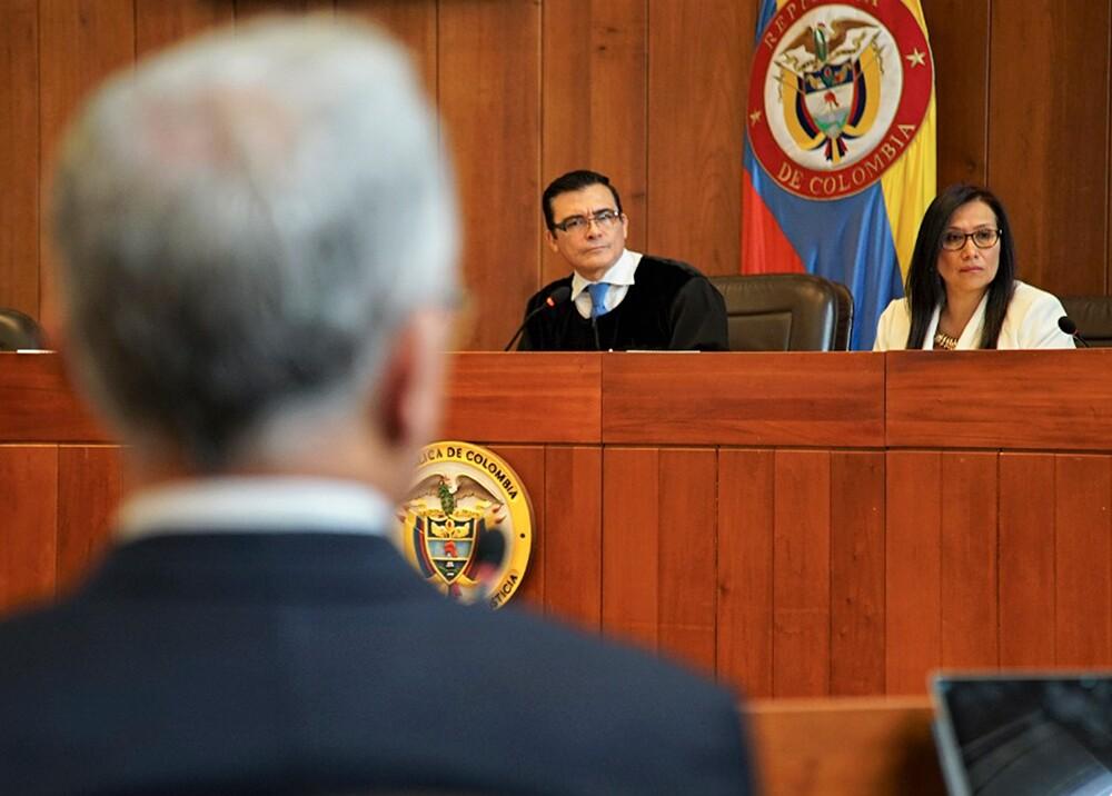 345439_Indagatoria de Uribe ante la Corte Suprema de Justicia // Foto: Rama Judicial