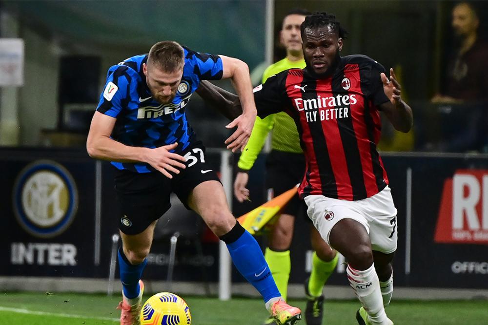 Partido entre Inter y Milan, por la Copa de Italia. AFP.png