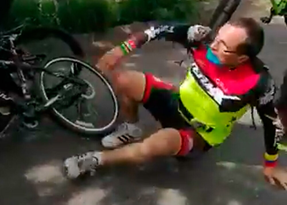 369992_Ciclista infractor en Bucaramanga // Foto: captura video redes