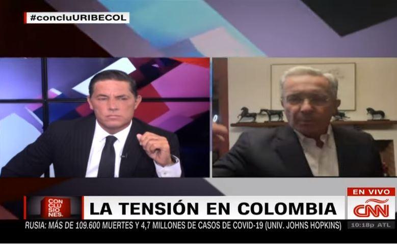 Uribe en CNN.JPG