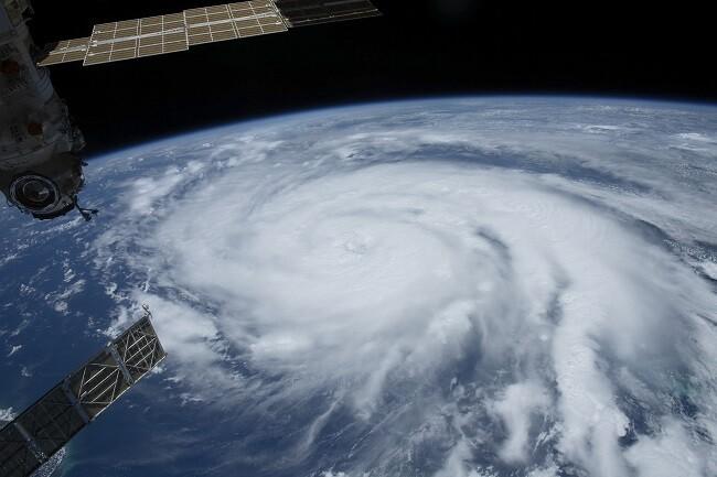huracán Ida visto desde la eei