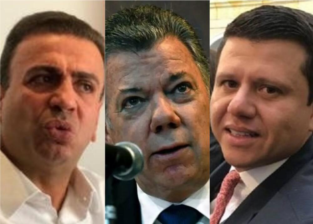 Musa Besaile - Juan Manuel Santos- 'Ñoño' Elías. Foto: El Espectador - AFP