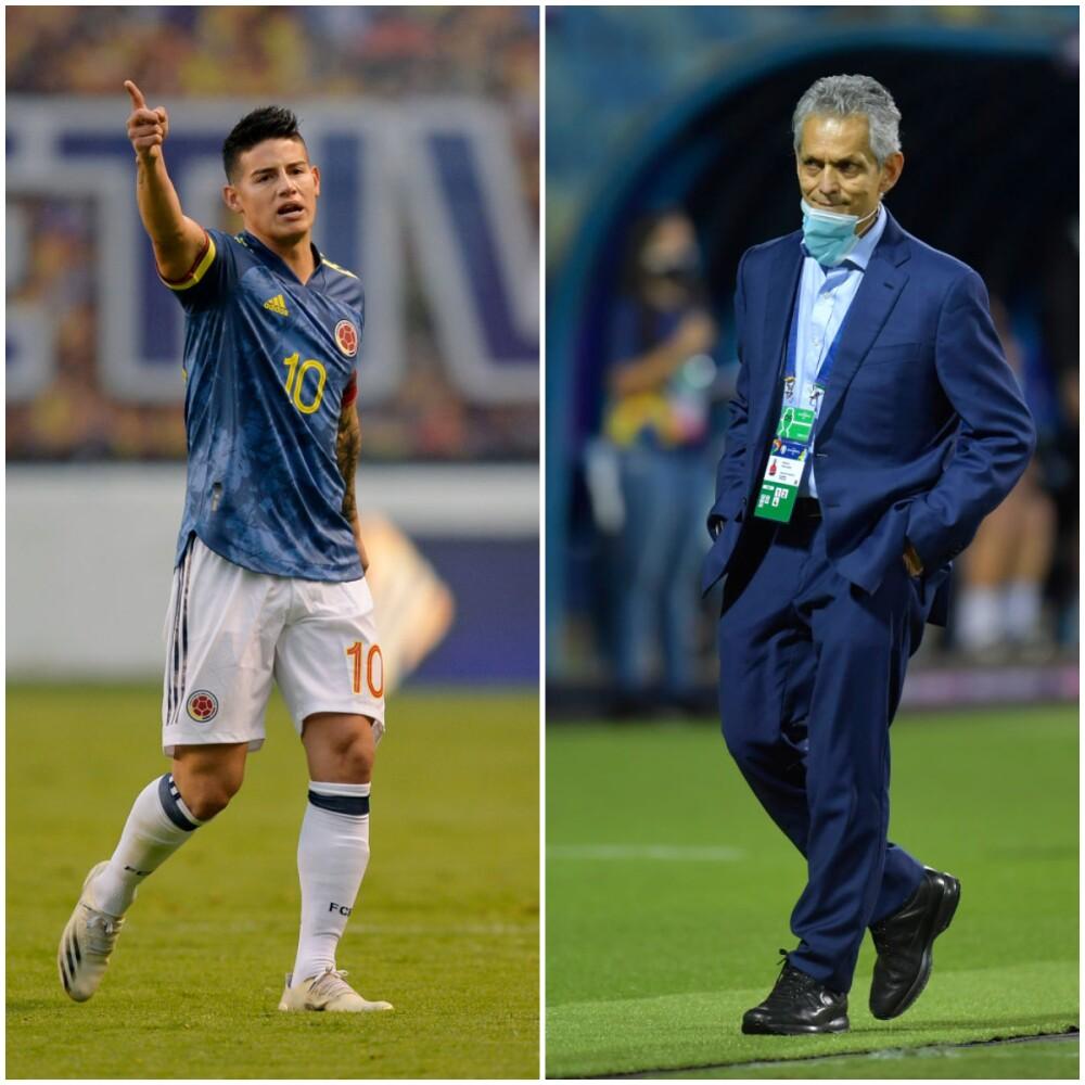 James Rodríguez y Reinaldo Rueda. Getty Images.jpg