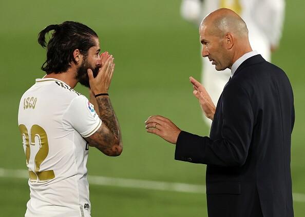 Isco y Zinedine Zidane