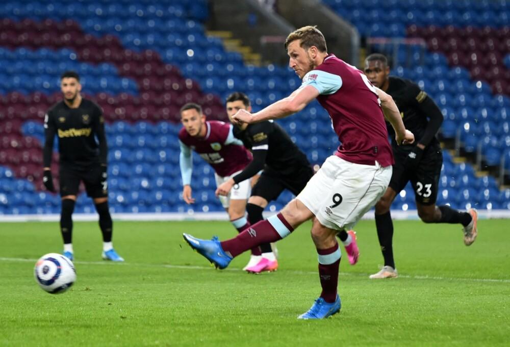 West Ham ganó 2-1 al Burnley AFP.