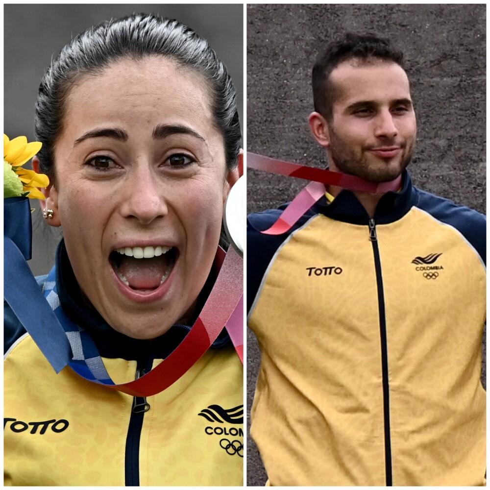Mariana Pajón y Carlos Ramírez