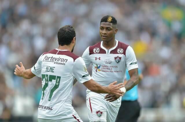 Yony González se destacó con un gol en el duelo entre Fluminense y Botafogo