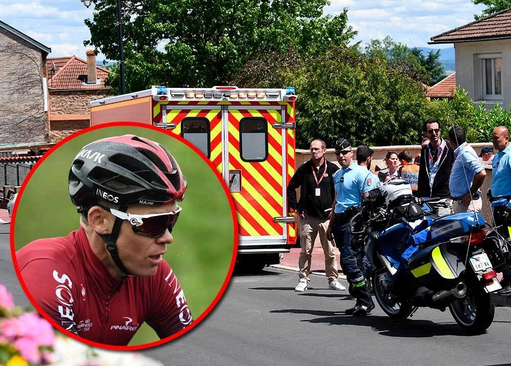 336127_BLU Radio // Chris Froome se pierde el Tour de Francia tras romperse la pelvis // Fotos: AFP