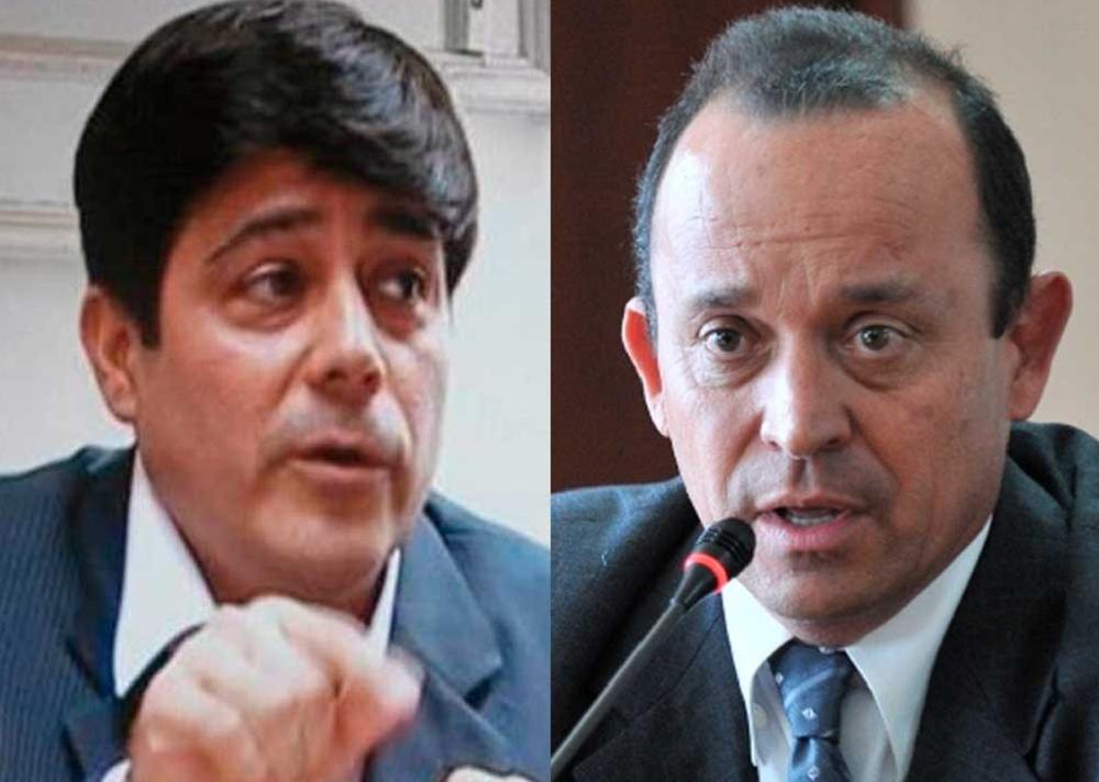 Mayor (r) Juan Carlos Meneses y Santiago Uribe