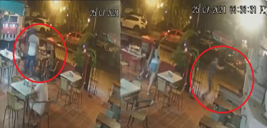 Hombre le disparó a ladrones