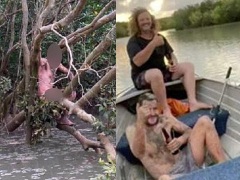 Hombre desnudo en Australia noticiero tvm.jpg
