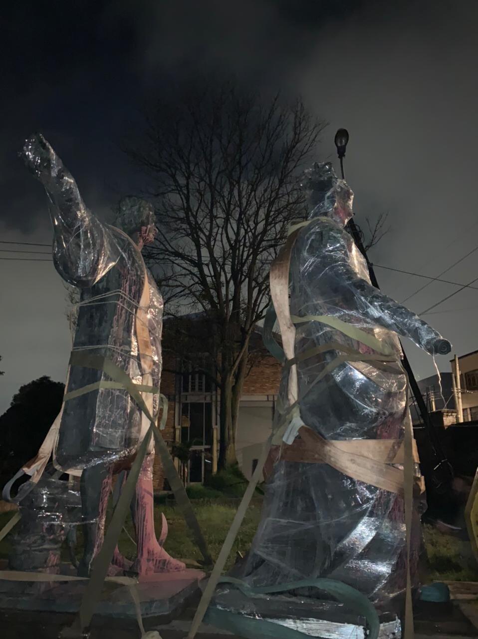 Estatuas a Cristóbal Colón e Isabel I retiradas