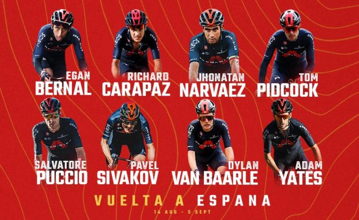Egan Bernal será uno de los líderes del Ineos en la Vuelta a España.