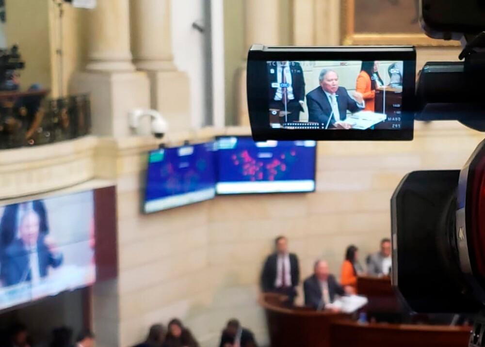 347164_Ministro Guillermo Botero ante el Congreso // Foto: Twitter @GuillermoBotero