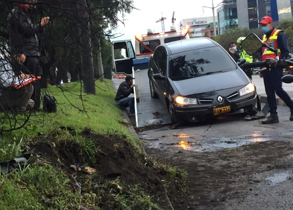Accidente Autopista Norte, Calle 127 Bogotá