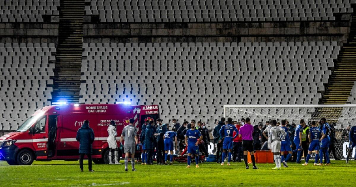 Momentos de angustia se vivieron en Porto vs Belenenses: Nanú tuvo que salir en ambulancia