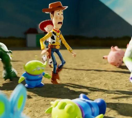 Personajes de Toy Story jugaron al Juego del calamar y el resultado fue un video viral