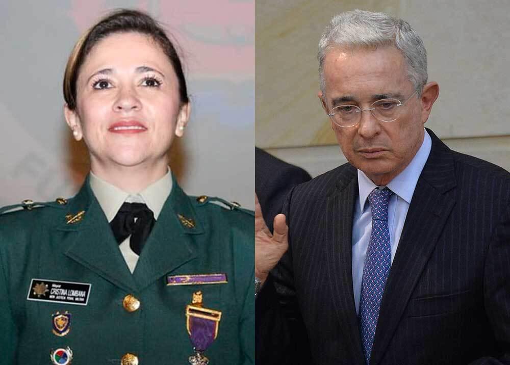 335769_BLU Radio // Magistrada Lombana - Álvaro Uribe // Fotos: Rama Judicial / AFP