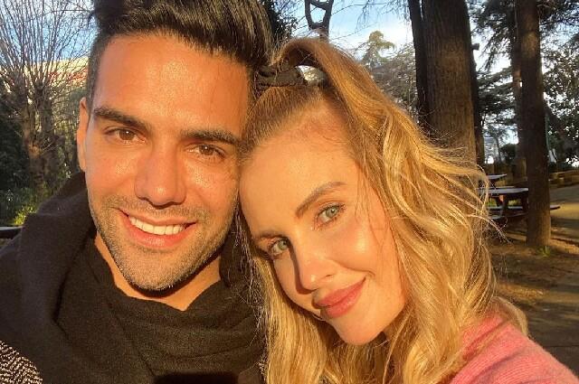 Radamel Falcao García y su esposa, Lorelei Tarón