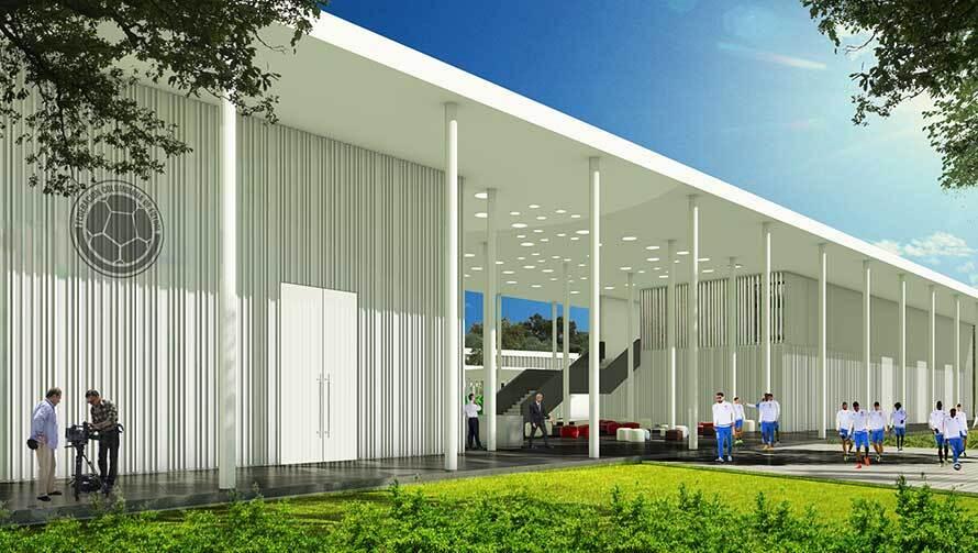 Sede deportiva de la FCF, en Barranquilla