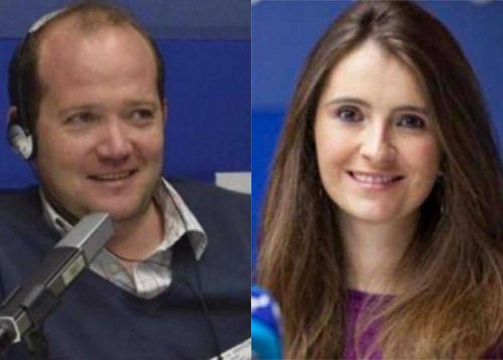 316301_Blu Radio. Daniel Samper y Paloma Valencia. Fotos: Blu Radio