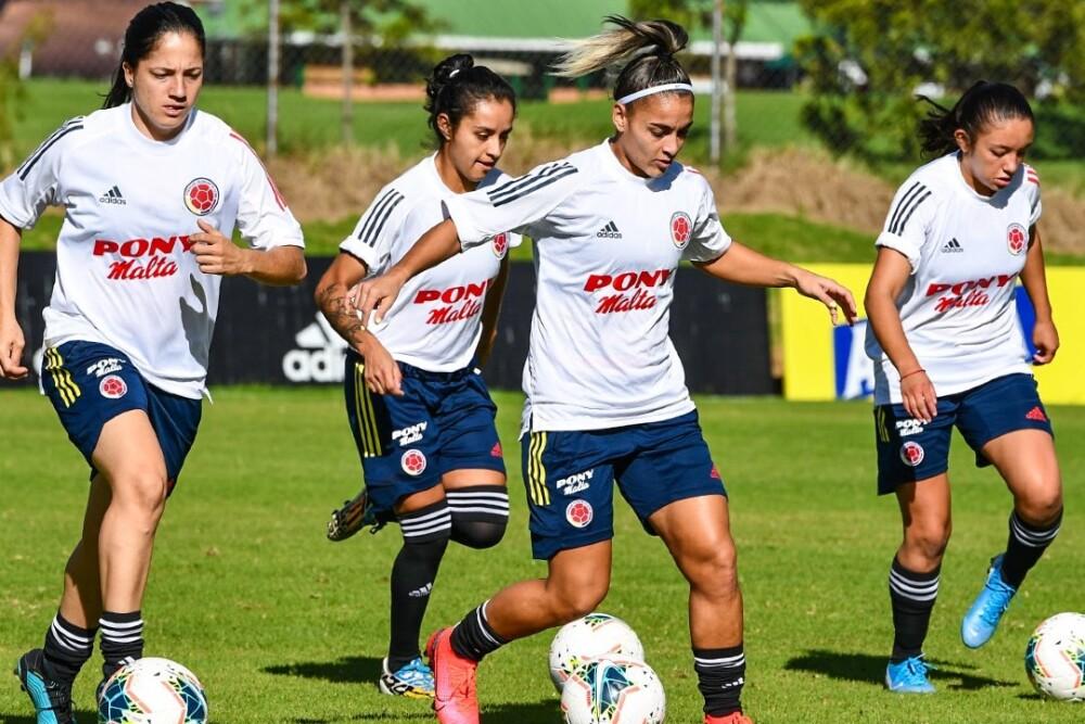 Jugadoras de la Selección Colombia de Fútbol femenina