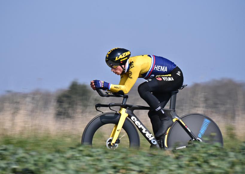 Primoz Roglic fue tercero en la etapa 3 de la París-Niza.