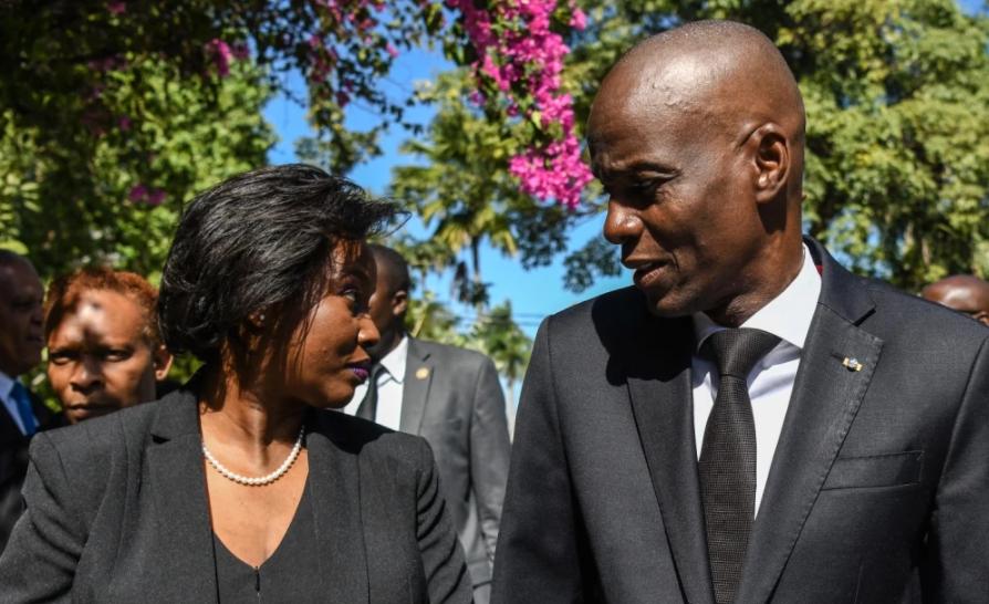 Martine Moise y Jovenel Moise