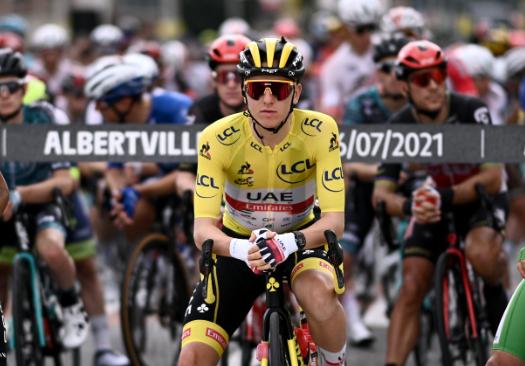 Tadej Pogacar es el líder del Tour de Francia.