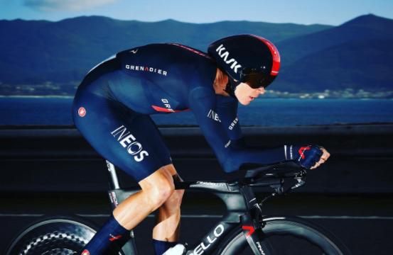 Chris Froome en la Vuelta a España: Foto: Twitter @chrisfroome