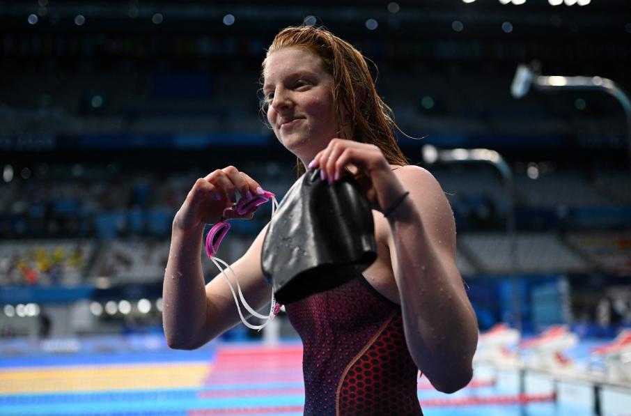 Lydia Jacoby ganó el oro en los 100 metros pecho de la natación de los Juegos Olímpicos de Tokio 2020.