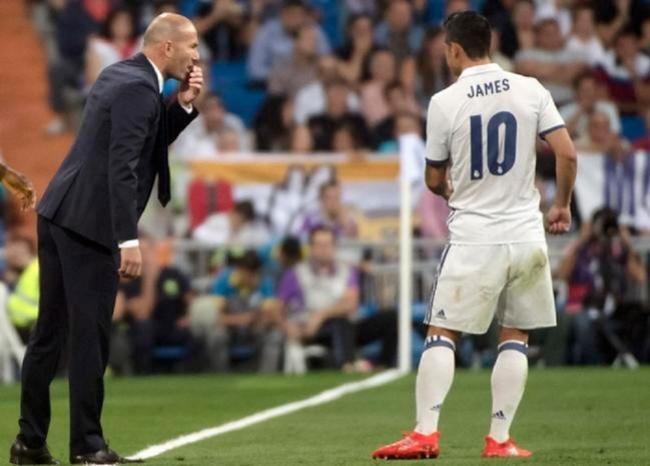 367280_Zidane - James. Foto: AFP