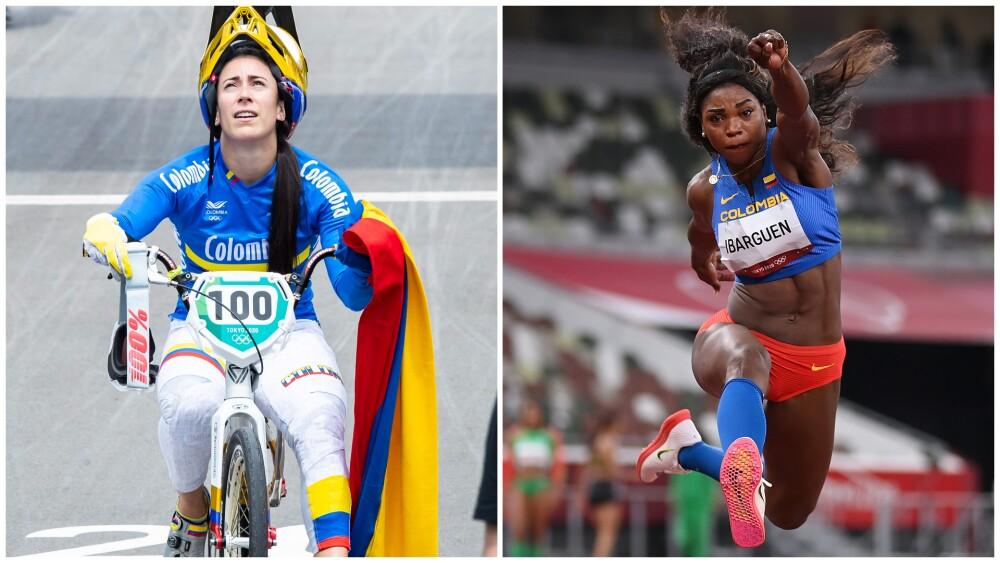 Mariana Pajón y Caterine Ibargüen, en los Juegos Olímpicos de Tokio 2020