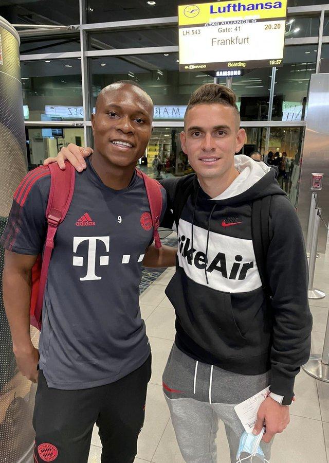 José Mulato y Rafael Santos Borré, jugadores colombianos. @DepCaliCantera.jpg