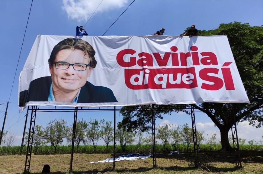 Valla Alejandro Gaviria. Foto: Partido Liberal
