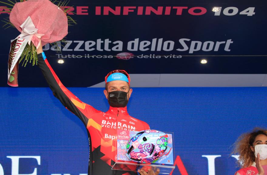 Damiano Caruso fue el ganador de la etapa 20 del Giro de Italia.