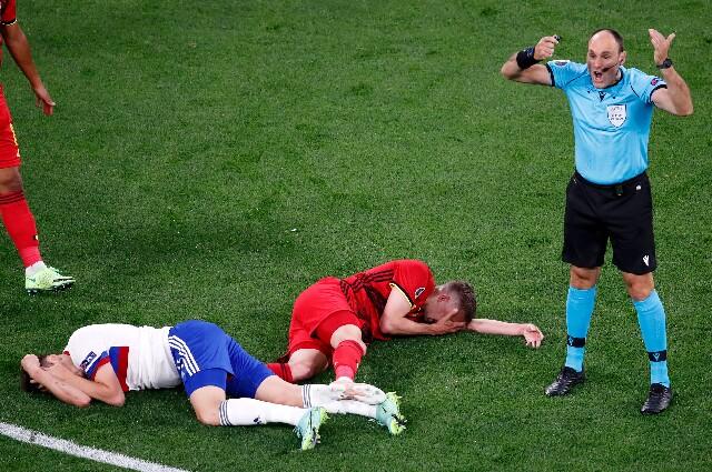 Bélgica contra Rusia en la Eurocopa