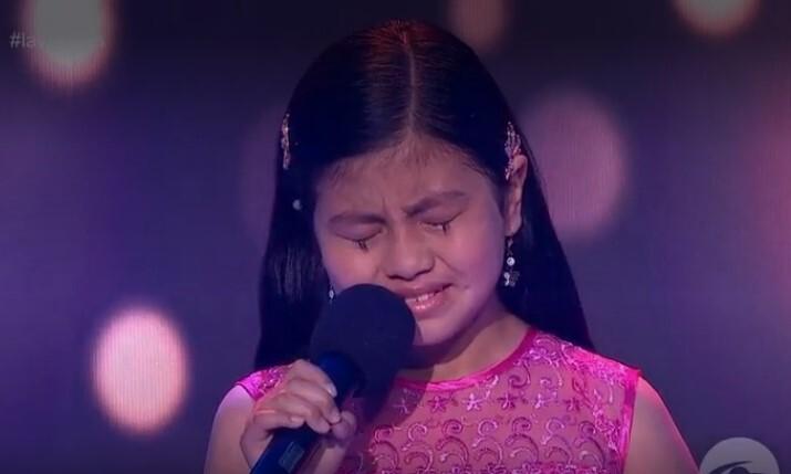 Luisa María, la niña que se quebró en el escenario y conmovió en La Voz Kids