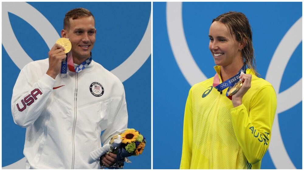 Caeleb Dressel y Emma McKeon, en los Juegos Olímpicos de Tokio 2020